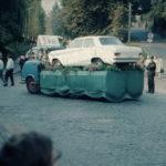 Herbstfestumzug 1967, Auto als 1. Preis bei der Verlosung